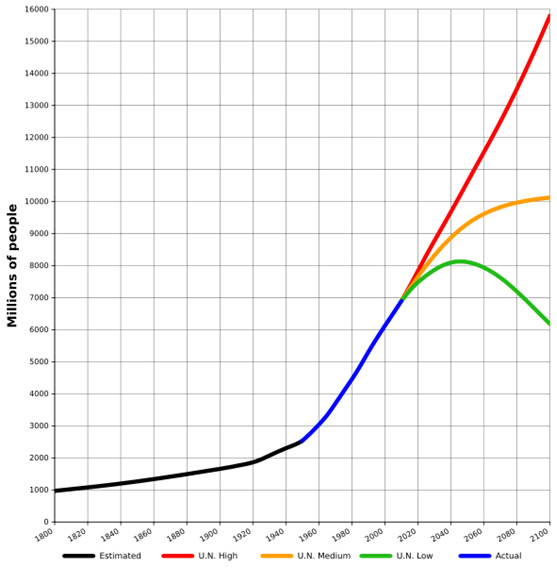 World population projections and estimates.