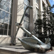 USS Roper anchor on display at the Massachusetts Institute of Technology - Overseas Retirement Plan