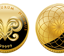 Aureals gold coin front back