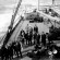 Men on deck of 'Empress of Ireland' at Vancouver