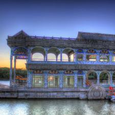 China Beijing boat on the lake
