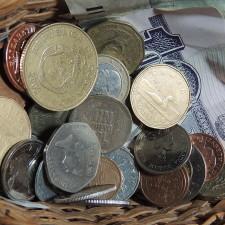 Basket of money - Financial Advisor