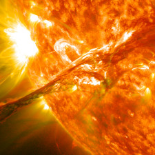 On August 31, 2012 a long filament of solar material that had been hovering in the Sun's atmosphere, the Corona, erupted out into space - Wealth Transfer