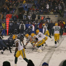Brett Favre and Green Bay Packers offense lines up in a Monday Night Football game vs Seattle Seahawks Nov. 27, 2006 at Qwest Field - Economic MVP