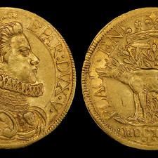 Italian States, Piacenza, 2 Doppie (1626). Depicting Odoardo Farnese, Duke of Parma - Gold Market