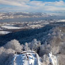 "Lake Zurich and the ""Golden Mile"" of Zurich"