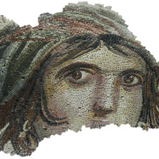 """""""The Gypsy Girl"""" mosaic of Zeugma, from Gaziantep Museum of Archeology - Investor education"""
