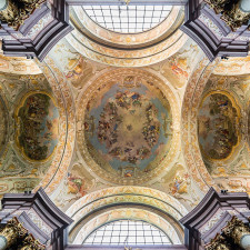 Ceiling frescos in Herzogenburg Abbey Church (Lower Austria) by Daniel Gran (left fresco) and Bartolomeo Altomonte - Specialization