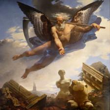 Le Temps montrant les ruines qu'il amène et les chefs d'œuvre qu'il laisse ensuite découvrir, 1822, plafond de la salle des bijoux, Musée du Louvre, Paris - Martin Armstrong